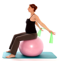 You Massage Therapy Antenatal Pilates exercise ball